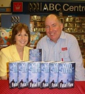 Sandy with Phil Freeman of Dymocks Bundaberg