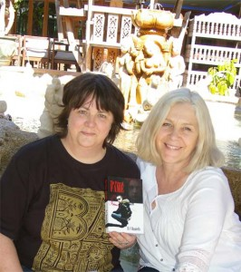 "Lindy and Rowena with ""The Price of Fame"""